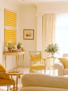 Yellow Living Room Walls Ideas   Yellow color for living room interior design, white and yellow color ...
