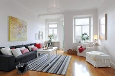 This living room is very close to the classical Scandinavian look.