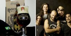 Cerveja Motorocker, estilo Munich Dunkel, produzida por Wensky Beer, Brasil. 6% ABV de álcool.