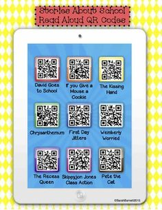 Stories about School Read Aloud QR Codes -... by Sarah Barnett - Mrs B First Grade | Teachers Pay Teachers