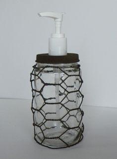 Chicken wire soap holder