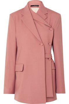 Rokh Layered Twill Blazer In Blush Blazer Outfits, Blazer Fashion, Casual Outfits, Fashion Outfits, Womens Fashion, Fashion Trends, Casual Blazer, Dress Outfits, Fashion Coat