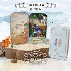 DIY Модель Наборы Miniatura кукольный домик Box theatre с железный ящик маленький игрушечный домик секрет коробка для девочек Подарки на день рождения Новогодний подарок