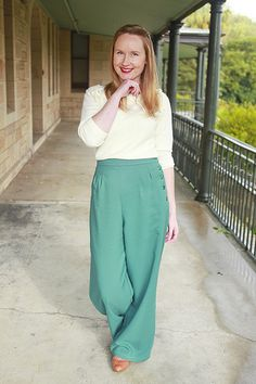 1940's wide legged trousers. Gorgeous.