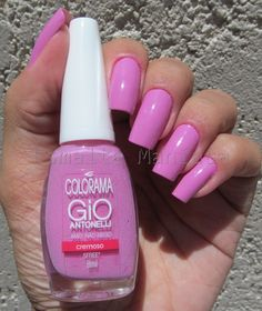 Esmaltemaníaca: Unha da Semana: Amo, Não Nego da Colorama Perfect Nails, Gorgeous Nails, Pretty Nails, Fancy Nails, Love Nails, Nail Manicure, Gel Nails, Chrome Nail Powder, Summer Nails 2018