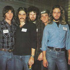 Eagles - 1976 -- L-R Randy Meisner, Glenn Frey, Don Henley, Joe Walsh, Don Felder