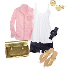 Pink & Navy, created by amf629.polyvore.com