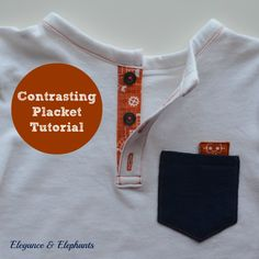 Contrasting Placket (Tutorial)