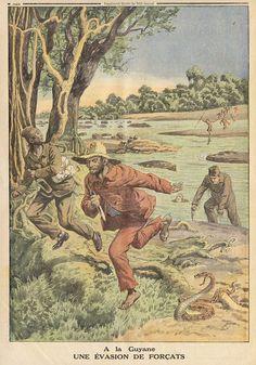 ptite  journal 30 nov 1913 dos A la Guyane Une Evasions de Forcats