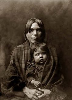 Indian mother and child, 1908, by Edward S. Curtis.