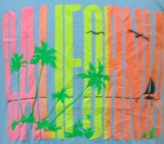 Vintage 80's CALIFORNIA t shirt     #Cali   #fonts   #graphic  #80s