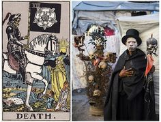 """""""Ghetto Tarot"""" produced by Haitian artist collective Atis Rezistans and photographer Alice Smeets."""