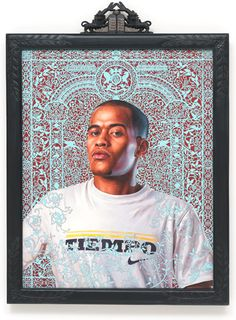 Awesome and intricate background - Kehinde Wiley
