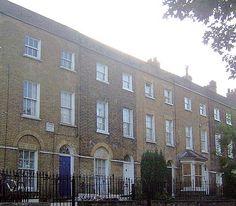 Ordnance Terrace, a childhood home of Charles Dickens, in Chatham, North Kent, England Chatham Kent, Kent England, Gillingham, Cymru, British Isles, Northern Ireland, Homeland, Great Britain, Wales
