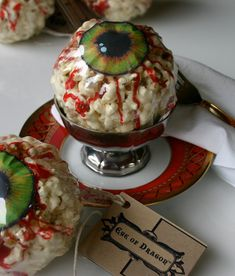 Plucked Straight from the Skies for your next Harry Potter, L.A.R.P. or Fantasy Event: 12 Eye of Dragon popcorn treats
