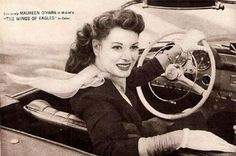 190SL Maureen o'Hara - the Wings of Eagles movie 1957