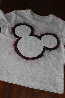 Mickey head shirt made with cupcake liners and fabric paint