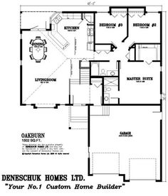Love this layout. Deneschuk Homes 1500 - 1600 sq ft Home Plans RTM ...