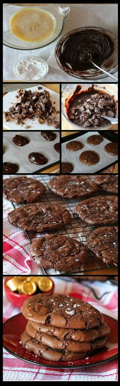 Delicious Salted Rolo Brownie Cookies   Delicious Food
