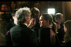 Natalie Portman keeps the drops off her Dior