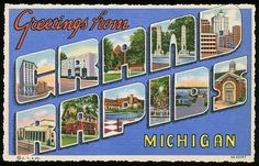 Greetings from Grand Rapids, Michigan - Large Letter Postcard | by Shook Photos