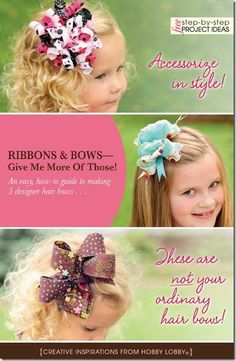 hair bows tutorials from Hobby Lobby