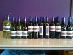 Signed bottles of Darcie Kent Vineyards wines