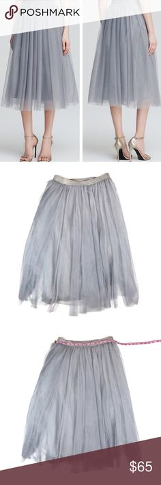 Bailey 44 | Shadow Waltz Tulle Midi Skirt | M Bailey 44 | Shadow Waltz Tulle Midi Skirt   • Size: Medium • Great Condition • True to Size • No Wear or Damage • Pet/Smoke Free Home • Cotton/Polyester Blend • See Photos for Measurements  Let me know if you have any questions and happy shopping! Bailey 44 Skirts Midi