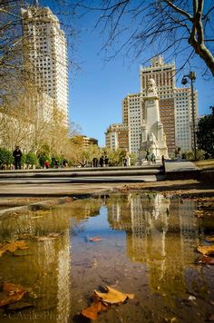 Cuántas ganas de volver a ver Madrid reflejada...Cuántas ganas de otoño...
