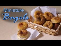 Quick/Easy; Miniature Bagels - Polymer Clay Tutorial - YouTube