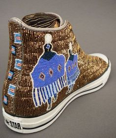 Native American Beadwork by Teri Greeves at Home & Away Gallery
