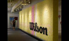 Brand Wall, Wilson Sporting Goods Headquarters, Gensler #SEGD