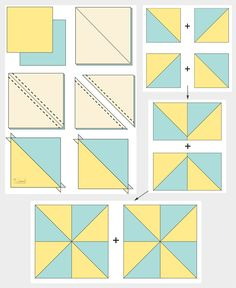 Want to learn how to make a simple quilt block? The Pinwheel Quilt Block is easy and versatile. It can be used to make numerous quilts. The secret to this block is half square triangles. Find out How to Make a Perfect Pinwheel Quilt Block Half Square Triangle Quilts Pattern, Pinwheel Quilt Pattern, Quilt Square Patterns, Baby Quilt Patterns, Pattern Blocks, Square Quilt, Triangle Quilt Tutorials, Colchas Quilting, Machine Quilting