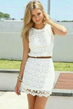 Summer is the time for white lace dresses.