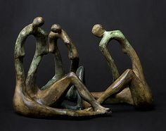 """Three sisters Bronze Www.polishsculptors.pl"