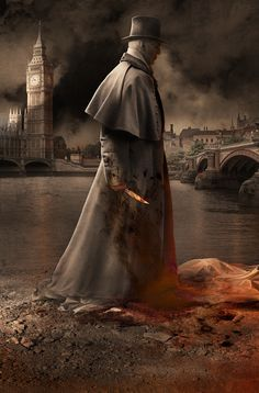 made by: Alejandro Colucci , Illustration for Book Cover - (Jack The Ripper ?)