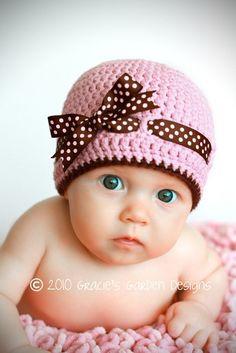 60 modelos de toucas para bebês e crianças  27558f13189