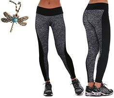 2697d8f6c3100c Gillberry Women Sports Trousers Athletic Gym Workout Fitness Yoga Leggings  Pants L Gray *** For more information, visit image link.