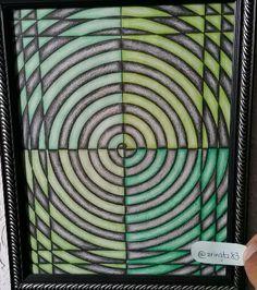 Zrin draw, dibujo creado a base de plumas y colores. Arte, México