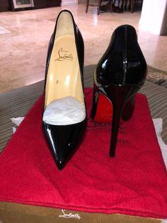 9155ce9065 Christian Louboutin 120 Pigalle 39 Black Patent Leather Heels # ChristianLouboutin #PumpsClassics #Dress