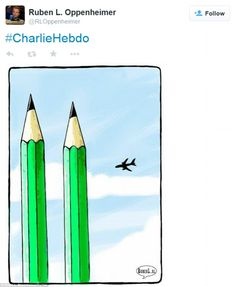 Dutch cartoonist Ruben Oppenheimer alluded to the 9/11 terror attacks in New York with his thoughtful cartoon which received over 20,000 retweets