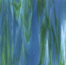 Bullseye Azure Blue, Jade Green & Neo-Lavender Streaky - 90 COE - Create dynamic artwork with Bullseye Streaky Glass. Worship Backgrounds, Bullseye Glass, Jade Green, Stained Glass, Lavender, Craft, Colors, Artwork, Projects