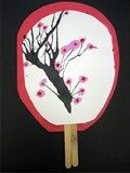 Japanese lesson cherry blossom fan