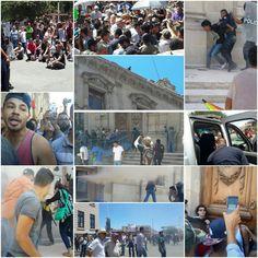 A un año del 22J; más de 100 detenidos, 4 armas robadas a la policía, heridos, gas lacrimógeno y un palacio de gobierno vandalizado