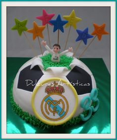 Dulzuras Artísticas: Tarta Real Madrid
