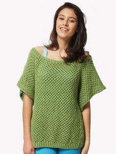 A summer essential, the Drop Stitch Jade Top will keep you feeling fresh and fabulous even on the hottest of days. This lacy knit top pattern features the drop stitch and is worked in one piece from front to back.