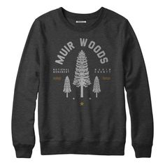 6d75950a2de Muir Woods Redwood Crew Fleece Sweatshirt by Parks Project