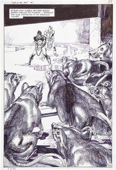 Original Comic Art:Splash Pages, Gil Kane Sword of the Atom #1 Page 22 Original Art (DC,1983). ... Image #1