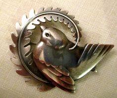 Vintage Georg Jensen Dove brooch, Sterling Silver, vintage 1940s, pristine