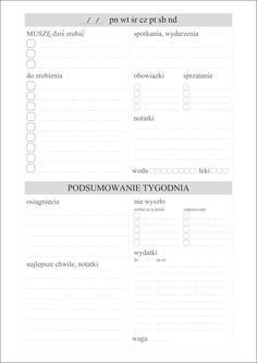 Plan dnia do pobrania Planner Organisation, Organization Bullet Journal, Bullet Journal Aesthetic, School Planner, Project Planner, Study Motivation, Free Prints, Bullet Journal Inspiration, Happy Planner